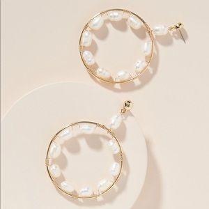 Anthropologie Mischa Pearl Earrings